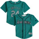 Majestic Ken Griffey Jr. Seattle Mariners Toddler Teal Alternate Official Cool Base Player Jersey