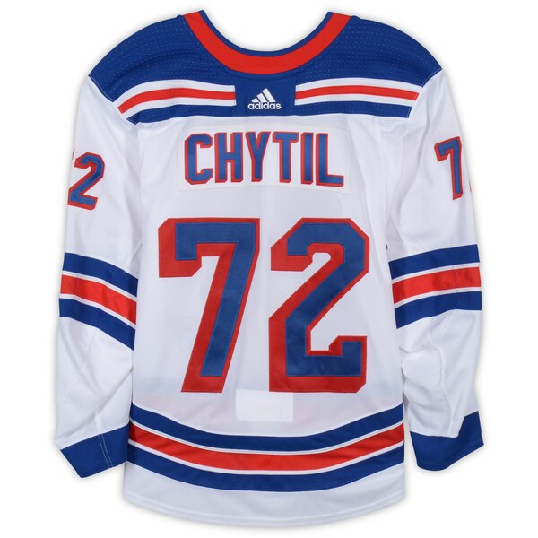 detailed look f49ea 1fa3c Fanatics Authentic Filip Chytil New York Rangers Game-Used #72 White Set 2  Jersey from the 2018-19 NHL Season – Size 56