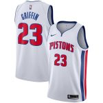 Nike Blake Griffin Detroit Pistons White Replica Swingman Jersey - Association Edition