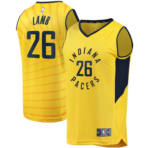 Jeremy Lamb Indiana Pacers Fanatics Branded Youth Gold Fast Break Replica Jersey - Statement Edition