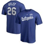 Majestic Chase Utley Los Angeles Dodgers Royal 2018 World Series Name & Number T-Shirt