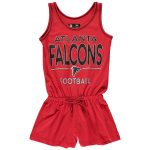 5th & Ocean by New Era Atlanta Falcons Girls Youth Red Baby Jersey Romper