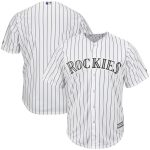 Majestic Colorado Rockies White/Purple Big & Tall Cool Base Team Jersey