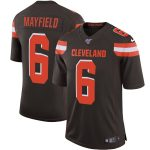 Nike Baker Mayfield Cleveland Browns Brown 100th Season Vapor Limited Jersey