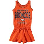 5th & Ocean by New Era Denver Broncos Girls Youth Orange Baby Jersey Romper