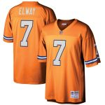 Mitchell & Ness John Elway Denver Broncos Orange Retired Player Legacy Replica Jersey