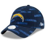 New Era Los Angeles Chargers Women's Navy Worded 9TWENTY Adjustable Hat