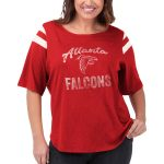 Touch by Alyssa Milano Atlanta Falcons Women's Red Plus Size Touch Curve Touchdown 3/4-Sleeve T-Shirt
