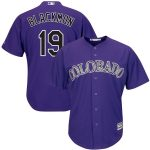 Majestic Charlie Blackmon Colorado Rockies Purple Alternate Official Cool Base Replica Player Jersey