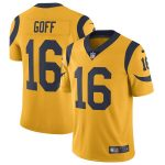 Nike Jared Goff Los Angeles Rams Gold Vapor Untouchable Color Rush Limited Player Jersey
