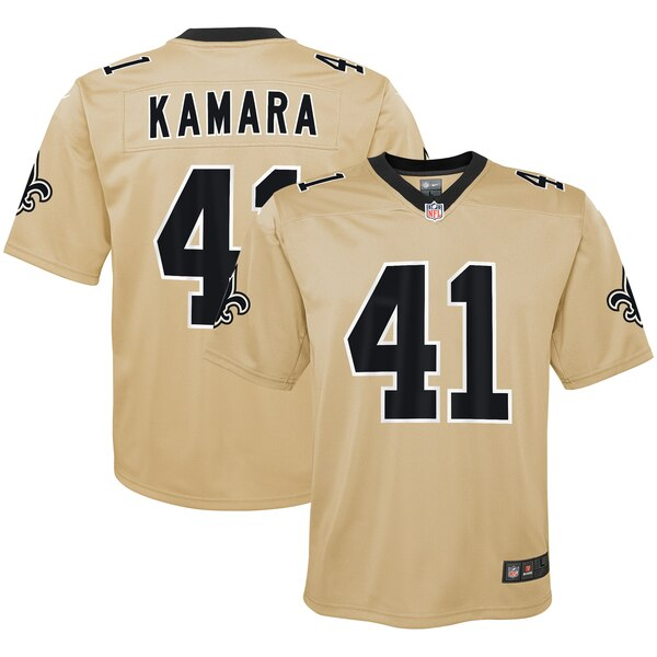 new style b2ecc e8d2a Nike Alvin Kamara New Orleans Saints Youth Gold Inverted Game Jersey