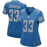 Nike Kerryon Johnson Detroit Lions Women's Blue Game Jersey
