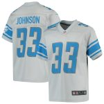 Nike Kerryon Johnson Detroit Lions Youth Silver Inverted Game Jersey