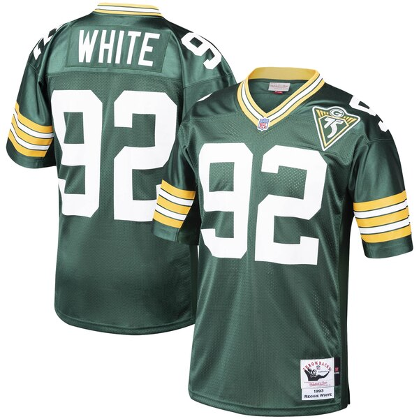 the best attitude 50827 8eac2 Mitchell & Ness Reggie White Green Bay Packers Green 1993 Authentic  Throwback Retired Player Jersey