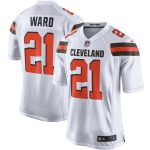 Nike Denzel Ward Cleveland Browns White Player Game Jersey