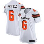 Nike Baker Mayfield Cleveland Browns Women's White Player Game Jersey