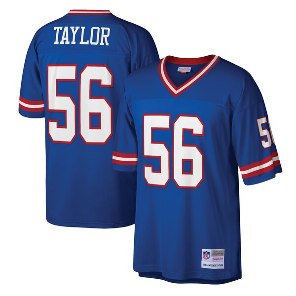 check out 5c258 06b1a Mitchell & Ness Lawrence Taylor New York Giants Royal Legacy Replica Jersey
