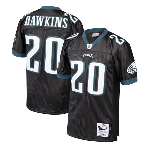 brand new 87666 b88e9 Mitchell & Ness Brian Dawkins Philadelphia Eagles Black 2003 Authentic  Throwback Retired Player Jersey
