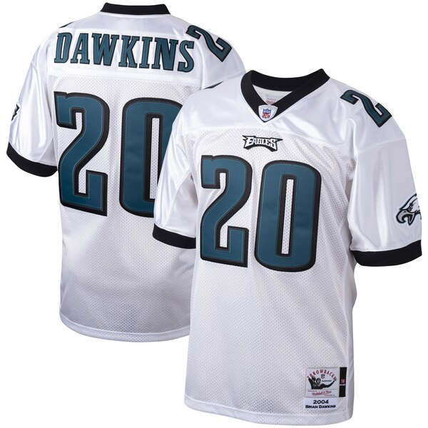 huge discount 4801a 525e2 Mitchell & Ness Brian Dawkins Philadelphia Eagles White 2004 Authentic  Throwback Retired Player Jersey