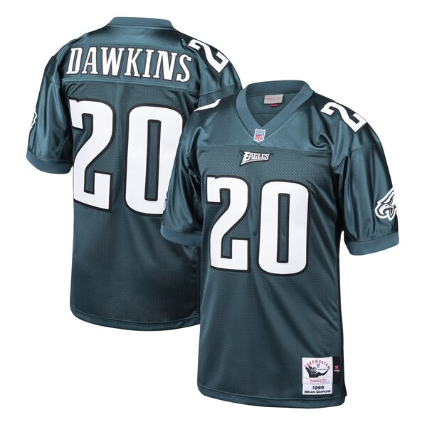 wholesale dealer 30e66 12947 Mitchell & Ness Brian Dawkins Philadelphia Eagles Midnight Green 1996  Authentic Throwback Retired Player Jersey