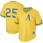 Mitchell & Ness Mark McGwire Oakland Athletics Gold Cooperstown Collection Mesh Batting Practice Jersey
