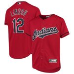 Majestic Francisco Lindor Cleveland Indians Youth Red Alternate Replica Player Jersey