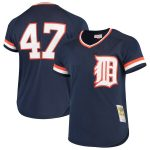 Mitchell & Ness Jack Morris Detroit Tigers Navy Cooperstown Collection Mesh Batting Practice Jersey