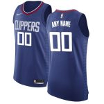 Nike LA Clippers Blue Authentic Custom Jersey - Icon Edition