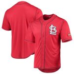 St. Louis Cardinals Stitches Team Color Button-Down Jersey - Red/Navy