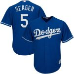 Majestic Corey Seager Los Angeles Dodgers Royal Fashion Official Cool Base Player Jersey