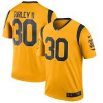 Nike Todd Gurley II Los Angeles Rams Gold Color Rush Legend Player Jersey