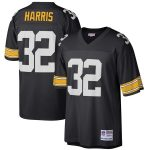 Mitchell & Ness Franco Harris Pittsburgh Steelers Black Retired Player Legacy Replica Jersey