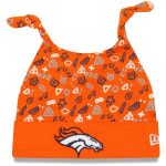 New Era Denver Broncos Infant Orange Pattern Cuffed Knit Hat