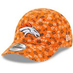 New Era Denver Broncos Infant Orange Pattern 9FORTY Stretch Flex Hat