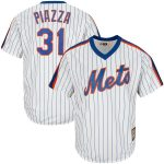 Majestic Mike Piazza New York Mets White/Royal Big & Tall Cooperstown Collection Cool Base Replica Player Jersey