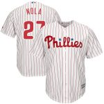 Majestic Aaron Nola Philadelphia Phillies White Official Cool Base Player Jersey