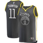 Fanatics Branded Klay Thompson Golden State Warriors Charcoal Fast Break Replica Player Jersey - Statement Edition