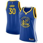 Nike Stephen Curry Golden State Warriors Women's Royal Finished Swingman Jersey - Icon Edition