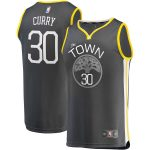 Fanatics Branded Stephen Curry Golden State Warriors Charcoal Fast Break Replica Player Jersey - Statement Edition