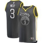 Fanatics Branded David West Golden State Warriors Charcoal Fast Break Replica Player Jersey - Statement Edition