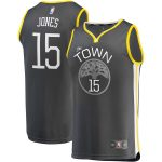 Fanatics Branded Damian Jones Golden State Warriors Charcoal Fast Break Replica Player Jersey - Statement Edition