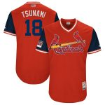 """Majestic Carlos Martinez """"Tsunami"""" St. Louis Cardinals Red/Navy 2018 Players' Weekend Authentic Jersey"""