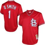 Mitchell & Ness Ozzie Smith St. Louis Cardinals Red Cooperstown Mesh Batting Practice Jersey