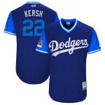 """Majestic Clayton Kershaw """"Kersh"""" Los Angeles Dodgers Royal/Light Blue 2018 Players' Weekend Authentic Jersey"""