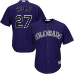 Majestic Trevor Story Colorado Rockies Youth Purple Alternate Official Player Jersey