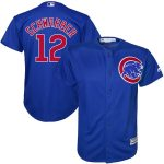Majestic Kyle Schwarber Chicago Cubs Youth Royal Official Cool Base Player Jersey
