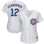 Kyle Schwarber Majestic Chicago Cubs Women's White Cool Base Player Jersey