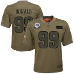 Nike Aaron Donald Los Angeles Rams Youth Camo 2019 Salute to Service Game Jersey