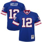 Mitchell & Ness Jim Kelly Buffalo Bills Youth Royal 1990 Legacy Retired Player Jersey