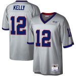 Mitchell & Ness Jim Kelly Buffalo Bills Platinum NFL 100 Retired Player Legacy Jersey